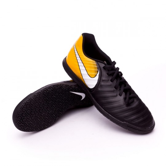 Chaussure de futsal  Nike TiempoX Rio IV IC Black-White-Laser orange-Volt