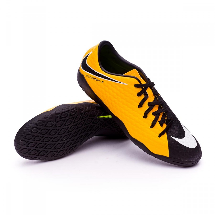 Nike Junior Hypervenom Phelon 3 DF IC Indoor Soccer Shoes Laser Orange