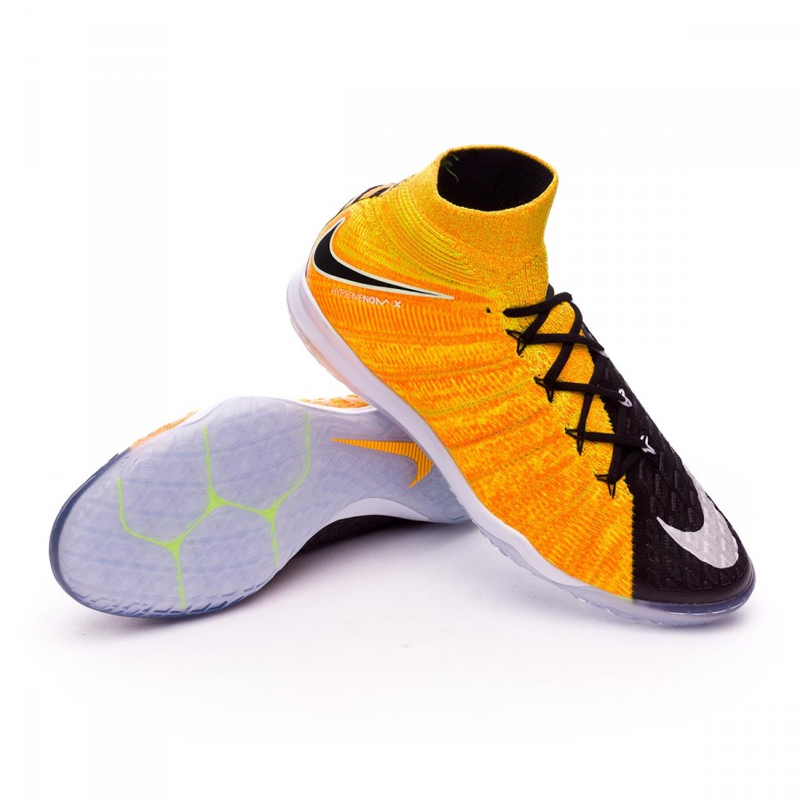 online here wholesale dealer half price Futsal Boot Nike HypervenomX Proximo II DF IC Laser orange-Black ...
