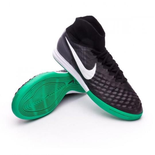 Zapatilla de fútbol sala  Nike MagistaX Proximo II DF IC Black-White-Cool grey-Stadium green