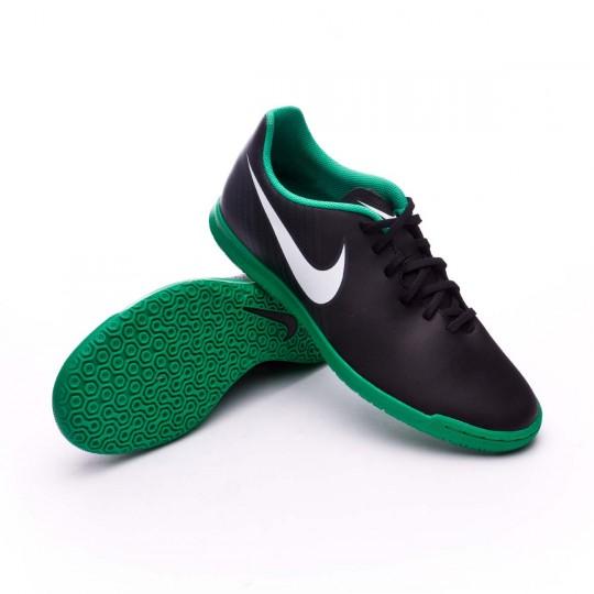 Zapatilla de fútbol sala  Nike MagistaX Ola II IC Black-White-Cool grey-Stadium green