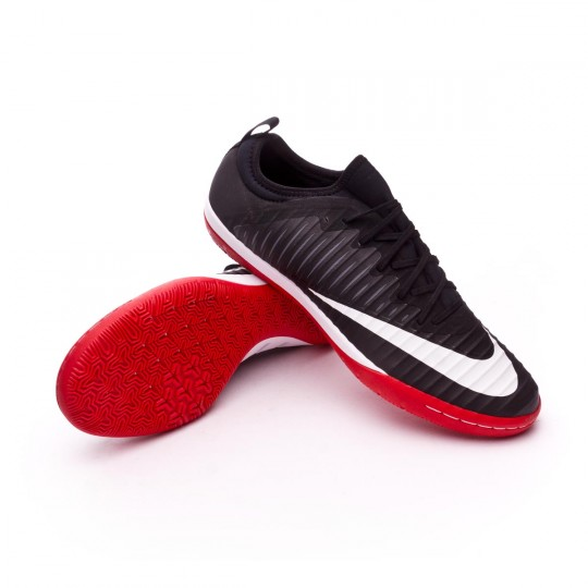 Zapatilla de fútbol sala  Nike MercurialX Finale II IC Black-White-Dark grey-University red
