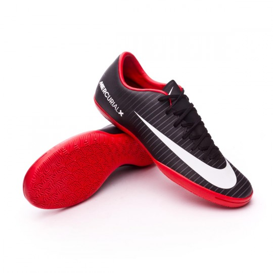 Zapatilla de fútbol sala  Nike Mercurial Victory VI IC Black-White-Dark grey-University red