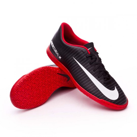 Zapatilla de fútbol sala  Nike MercurialX Vortex III IC Black-White-Dark grey