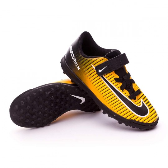 Chaussure  Nike Jr MercurialX Vortex III Velcro Turf Laser orange-Black-White-Volt