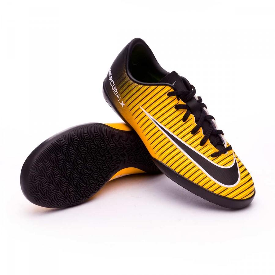 b7dbaa390 Futsal Boot Nike Kids MercurialX Vapor XI IC Laser orange-Black ...