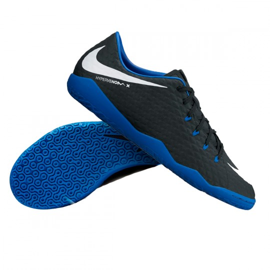 Zapatilla de fútbol sala  Nike jr HypervenomX Phelon III IC Black-White-Game royal