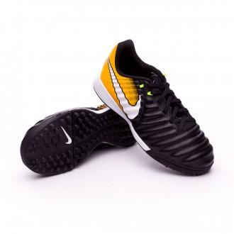 Zapatilla  Nike TiempoX Ligera IV Turf Niño Black-White-Laser orange-Volt