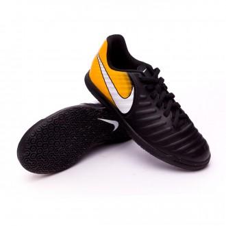 Zapatilla  Nike TiempoX Rio IV IC Niño Black-White-Laser orange-Volt