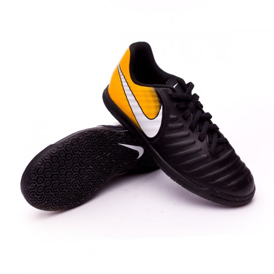 Chaussure de futsal  Nike Jr TiempoX Rio IV IC Black-White-Laser orange-Volt