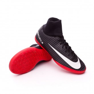 Zapatilla  Nike MercurialX Victory VI DF IC Niño Black-White-Dark grey-University red