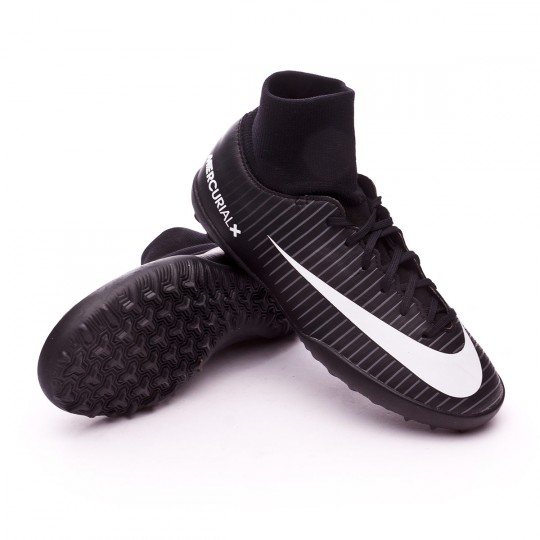 Zapatilla de fútbol sala  Nike jr MercurialX Victory VI DF Turf Black-White-Dark grey-University red