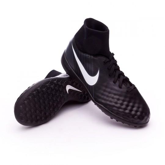 Zapatilla de fútbol sala  Nike jr MagistaX Onda II DF Turf Black-White-Cool grey-Stadium green