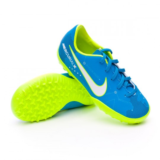 Chaussure  Nike Jr MercurialX Victory VI Turf Neymar Jr Blue orbit-White-Armory navy