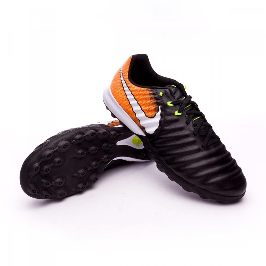newest 03be9 fdbbc Chaussure de football Nike TiempoX Finale Turf Black-White-Laser  orange-Volt - Boutique de football Fútbol Emotion