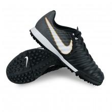 Football Boot Jr TiempoX Ligera IV Turf Black-White