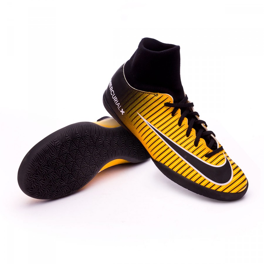 2ed6a678f15b1 Nike Jr MercurialX Victory VI DF IC Futsal Boot. Laser orange-Black-White-Volt  ...
