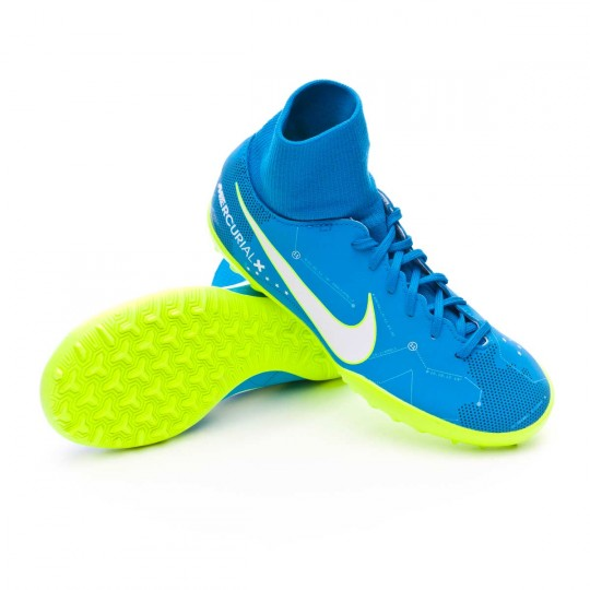 Chaussure  Nike Jr MercurialX Victory VI DF Turf Neymar Jr Blue orbit-White-Armory navy