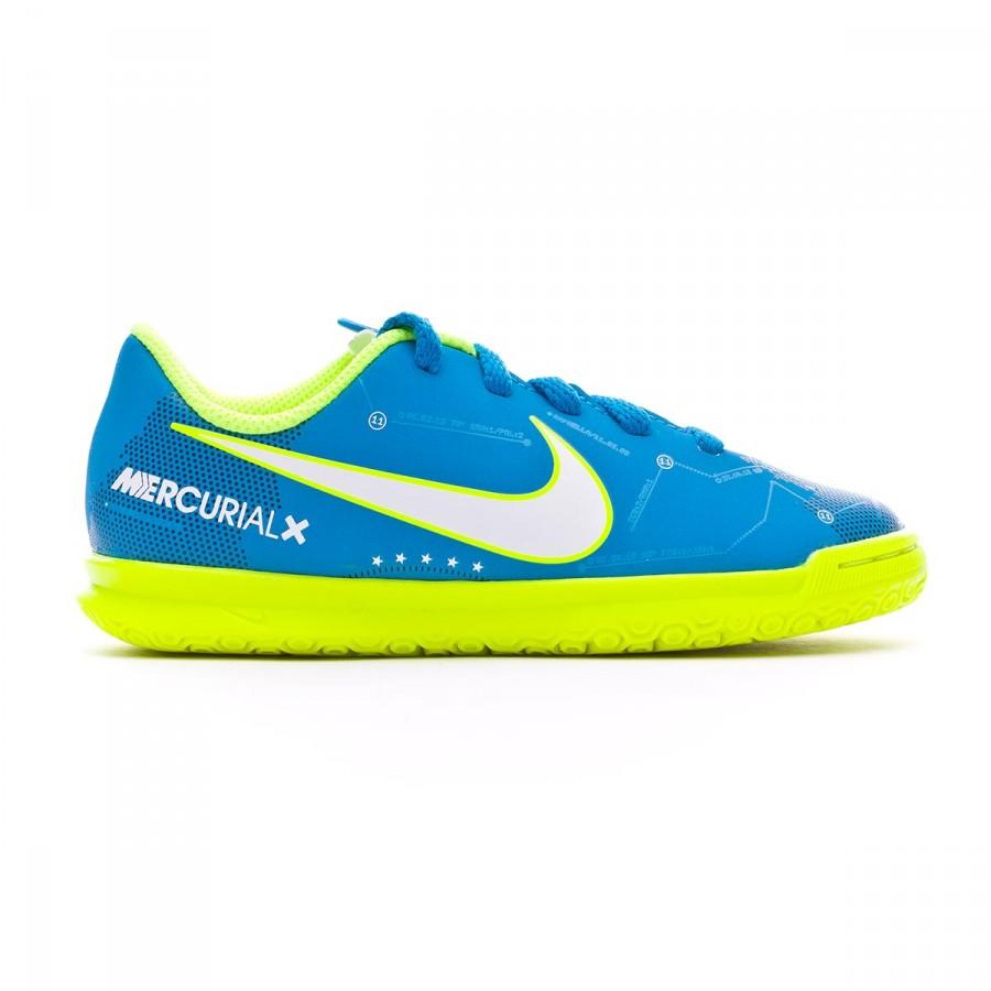 Una oración Escarpa De Dios  Zapatilla Nike MercurialX Vortex III IC Neymar Niño Blue orbit-White-Armory  navy - Tienda de fútbol Fútbol Emotion
