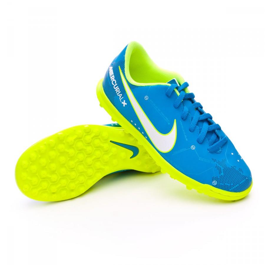 e0d9a7923fe Football Boot Nike MercurialX Vortex III Turf Neymar for kids Blue ...