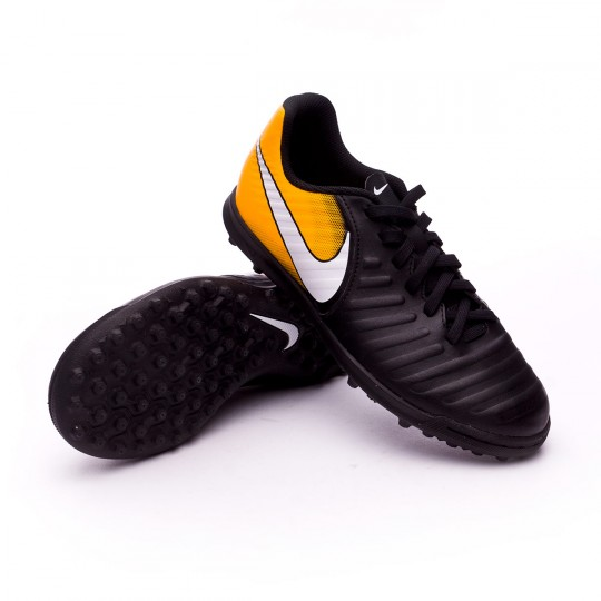 Chaussure  Nike TiempoX Rio IV Turf Enfant Black-White-Laser orange-Volt
