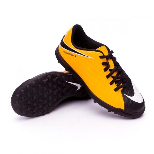 Zapatilla  Nike HypervenomX Phade III Turf Niño Laser orange-Black-White-Volt