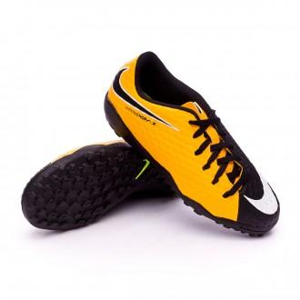 Zapatilla  Nike HypervenomX Phelon III Turf Niño Laser orange-Black-White-Volt