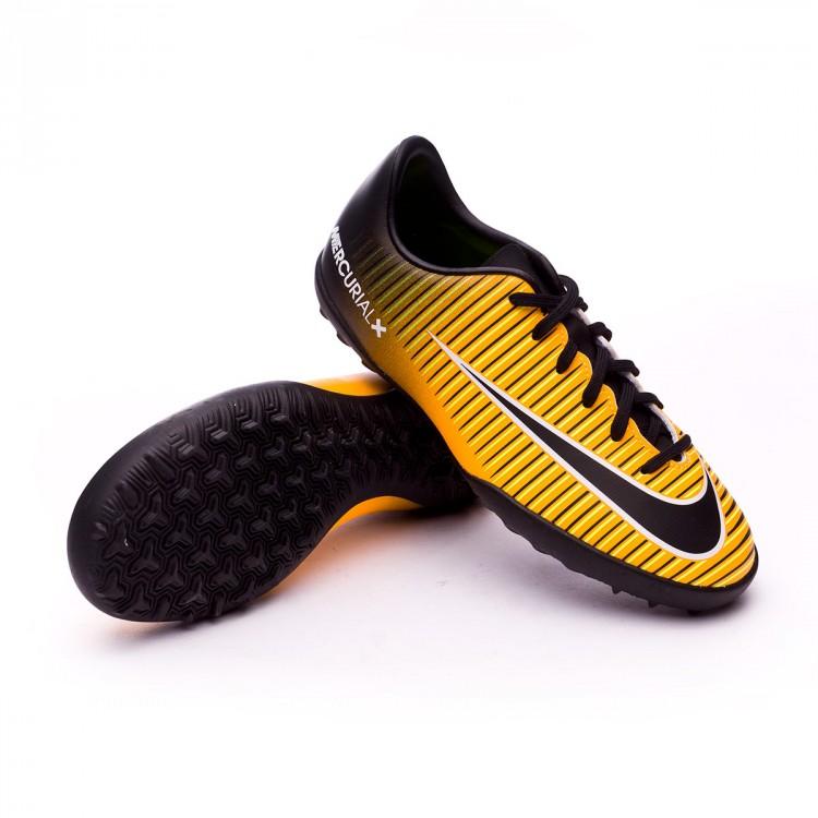 Botas Nike Mercurial Vapor XI CR7 Negro Suela Turf Niño