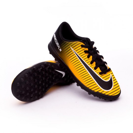 Zapatilla  Nike MercurialX Vortex III Turf Niño Laser orange-Black-White-Volt