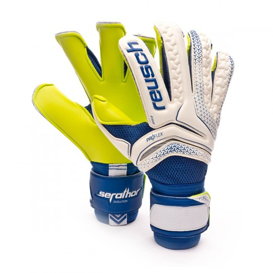 Guante  Reusch Serathor Pro M1 Evolution Exclusivo White-Blue-Yellow