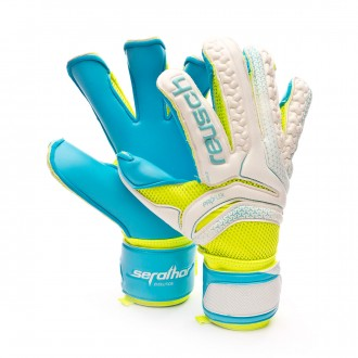 Guante  Reusch Serathor Prime S1 Evolution Exclusivo White-Volt-Blue