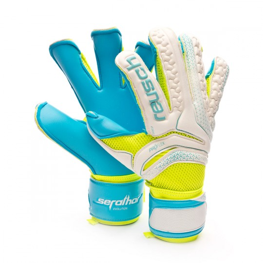 Glove  Reusch Serathor Prime S1 Evolution Exclusivo White-Volt-Blue