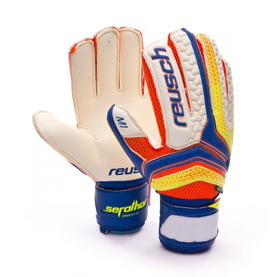 Glove  Reusch Serathor Prime M1 Ortho-Tec Dazzling blue-Safety yellow