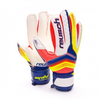 Guante  Reusch Serathor SG Finger Support Dazzling blue-Safety yellow