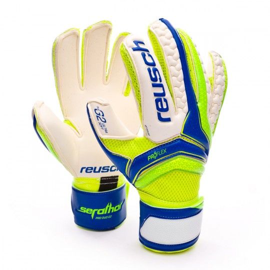 Glove  Reusch Serathor Pro Duo G2 Electric blue-Green gecko