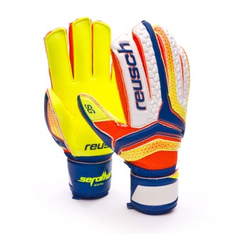 Guante  Reusch Serathor SG Extra Dazzling blue-Safety yellow