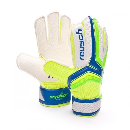 Glove  Reusch Jr Serathor RG Easy Fit Electric blue-Green gecko