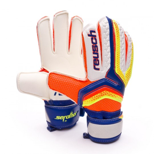 Glove  Reusch Jr Serathor SG Dazzling blue-Safety yellow