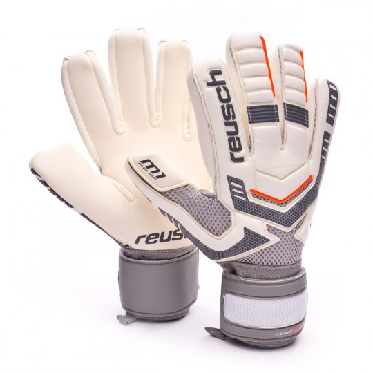 Glove  Reusch Re:load prime M1 negative cut (excl) White-Grey-Orange