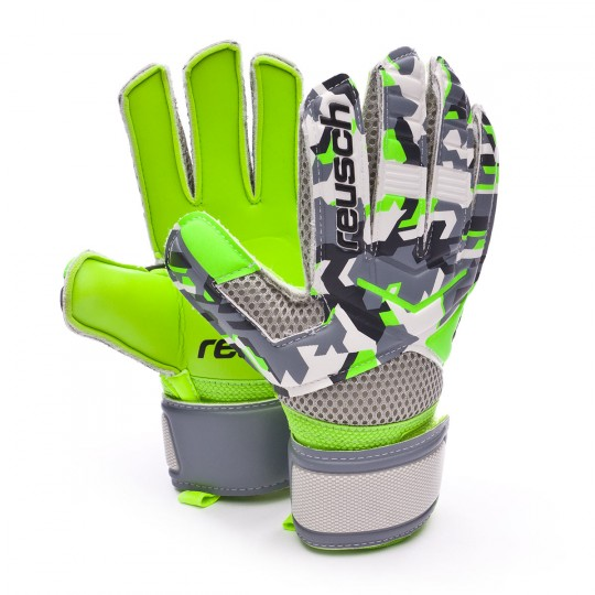 Glove  Reusch Jr Re:load Camou-Green gecko