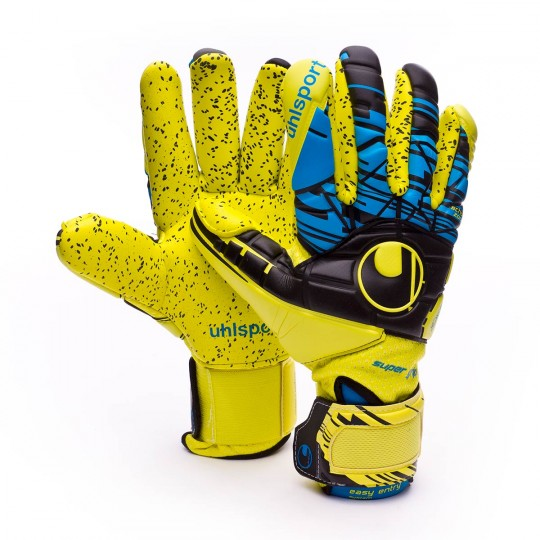 Guante  Uhlsport Eliminator Speed Up Supergrip FingerSurround Lite fluor yellow-Black-Hydro blue