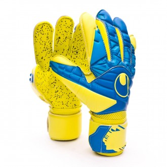 Luvas  Uhlsport Eliminator Speed Up Supergrip Lloris Hydro blue-Lite fluor yellow