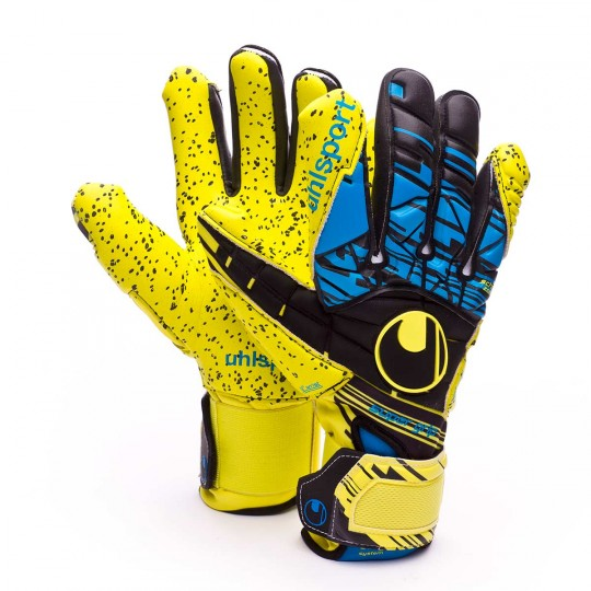 Guante  Uhlsport Eliminator Speed Up Supergrip HN Lite fluor yellow-Black-Hydro blue