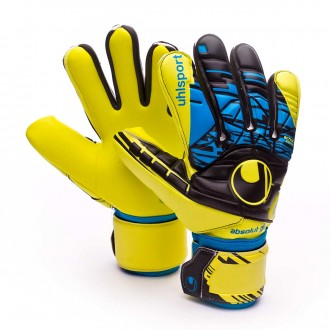 Luvas  Uhlsport Eliminator Speed Up Absolutgrip HN Lite fluor yellow-Black-Hydro blue