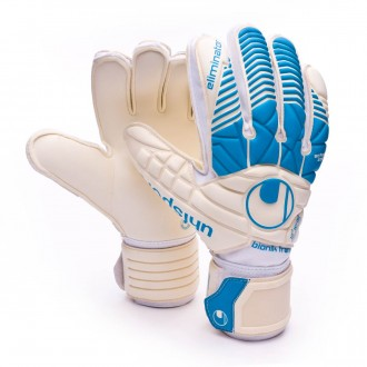 Luvas  Uhlsport Eliminator Supersoft Bionik White-Ciano
