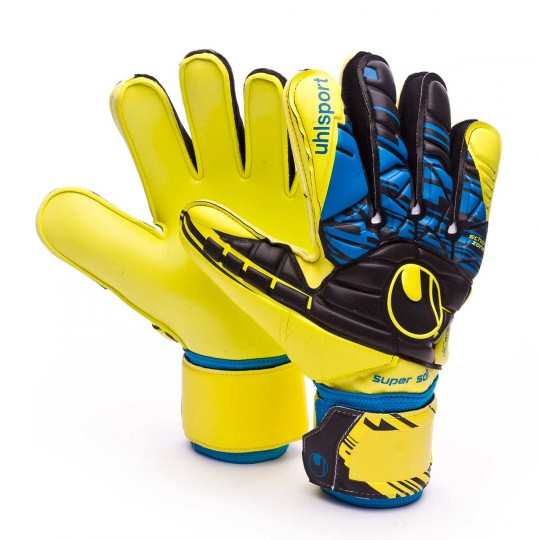 Guante  Uhlsport Eliminator Speed Up Supersoft Lite fluor yellow-Black-Hydro blue