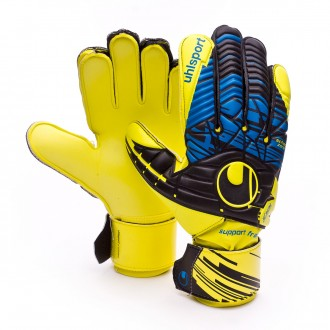 Guante  Uhlsport Eliminator Speed Up Soft SF Lite fluor yellow-Black-Hydro blue