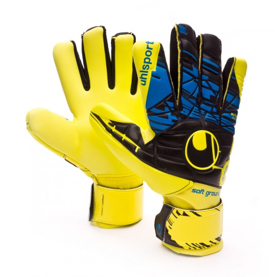 Guante  Uhlsport Eliminator Speed Up Soft HN COMP Lite fluor yellow-Black-Hydro blue
