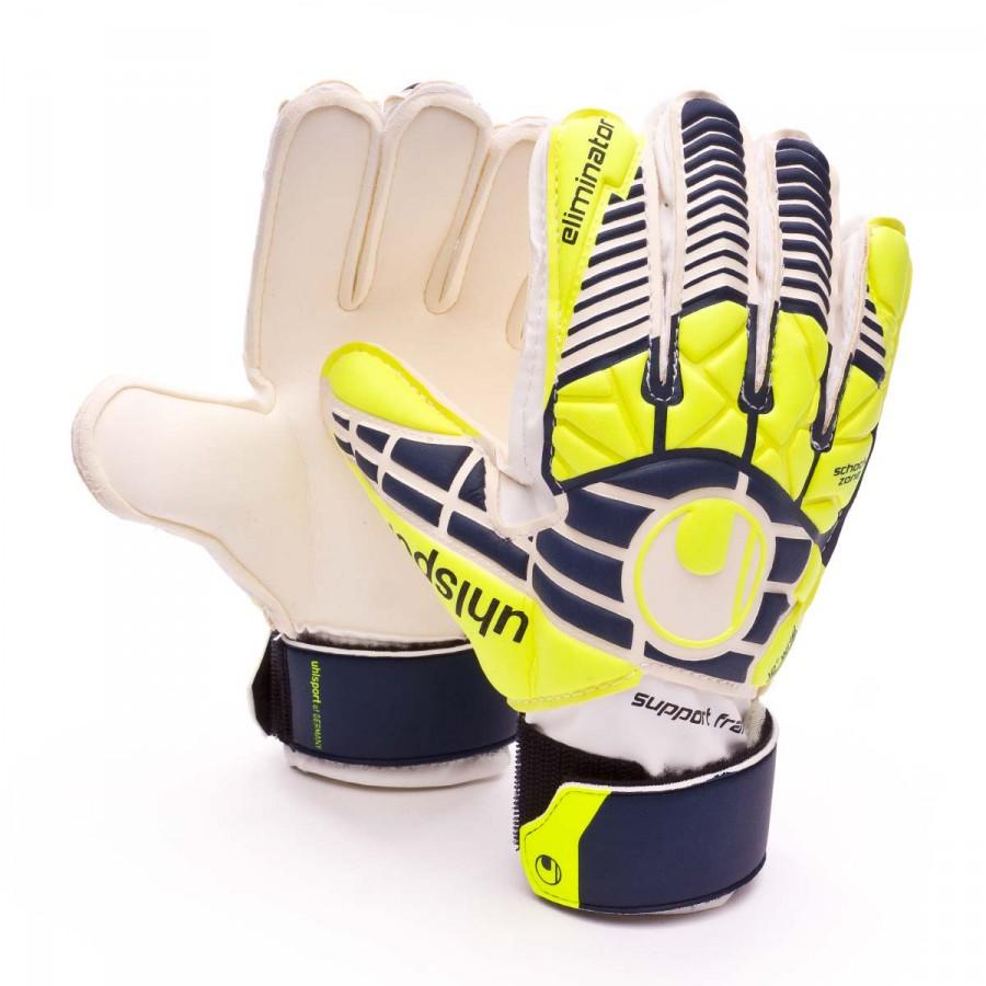 7945e3dae32 Guante de portero Uhlsport Eliminator Soft SF+ Niño Navy-Fluor yellow-White  - Tienda de fútbol Fútbol Emotion