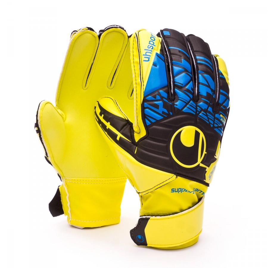 ee03d3a46 Uhlsport Kids Eliminator Speed Up Soft SF Glove. Lite fluor yellow-Black-Hydro  ...